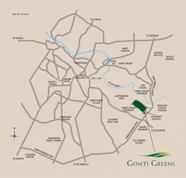 Images for Location Plan of Emaar India Gomti Greens