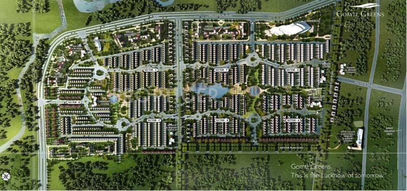 Images for Master Plan of Emaar India Gomti Greens