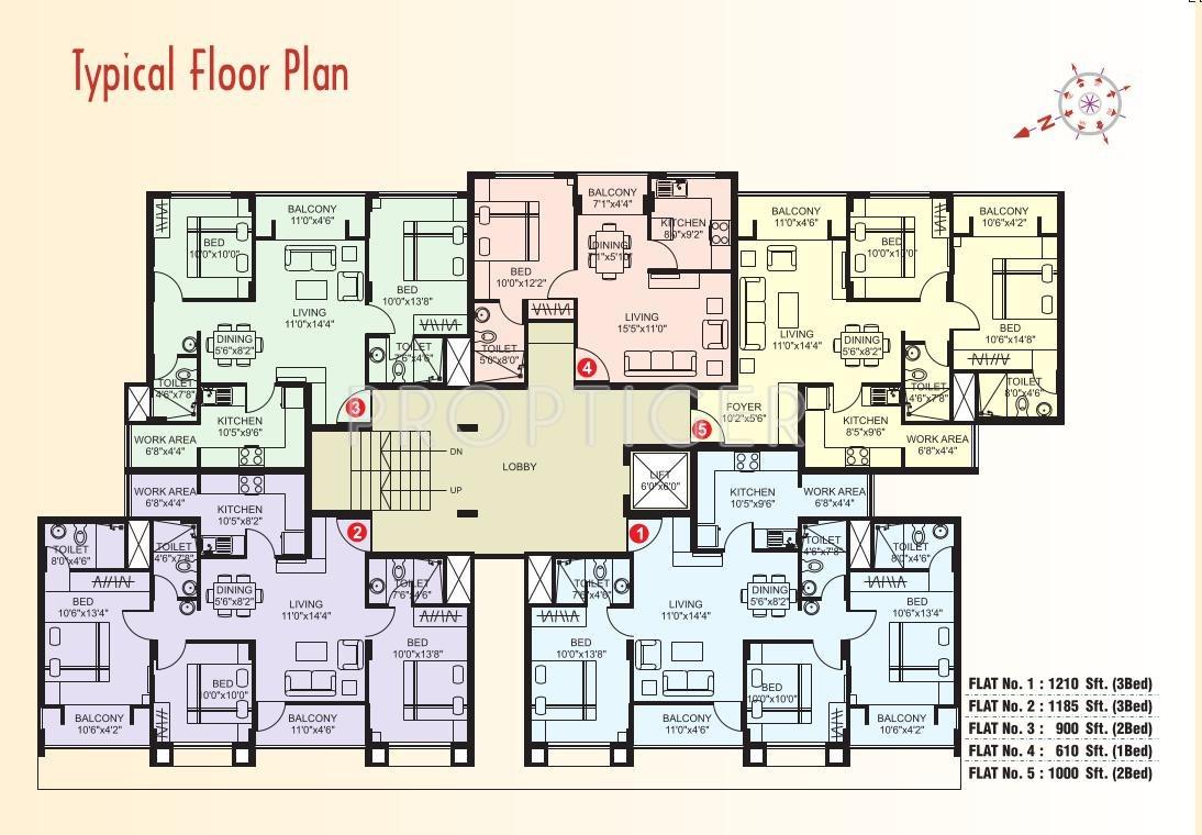 900 sq ft 2 bhk 2t apartment for sale in plama citius for 900 sq ft apartment floor plan