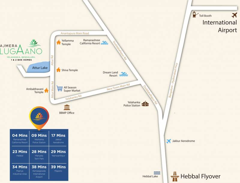 Images for Location Plan of Ajmera Lugaano
