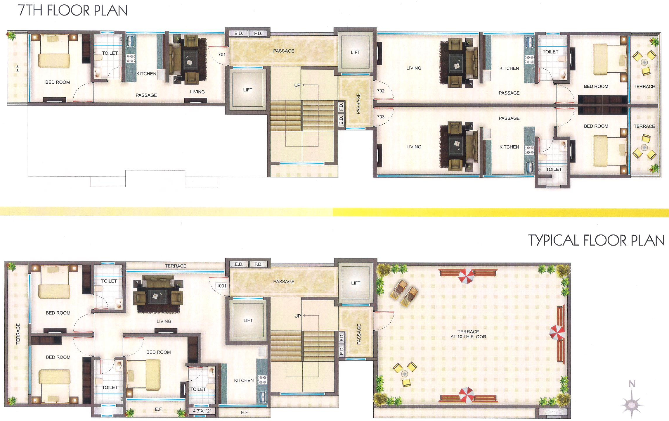 536 sq ft 1 bhk 1t apartment for sale in nisar group white for Cluster house plans