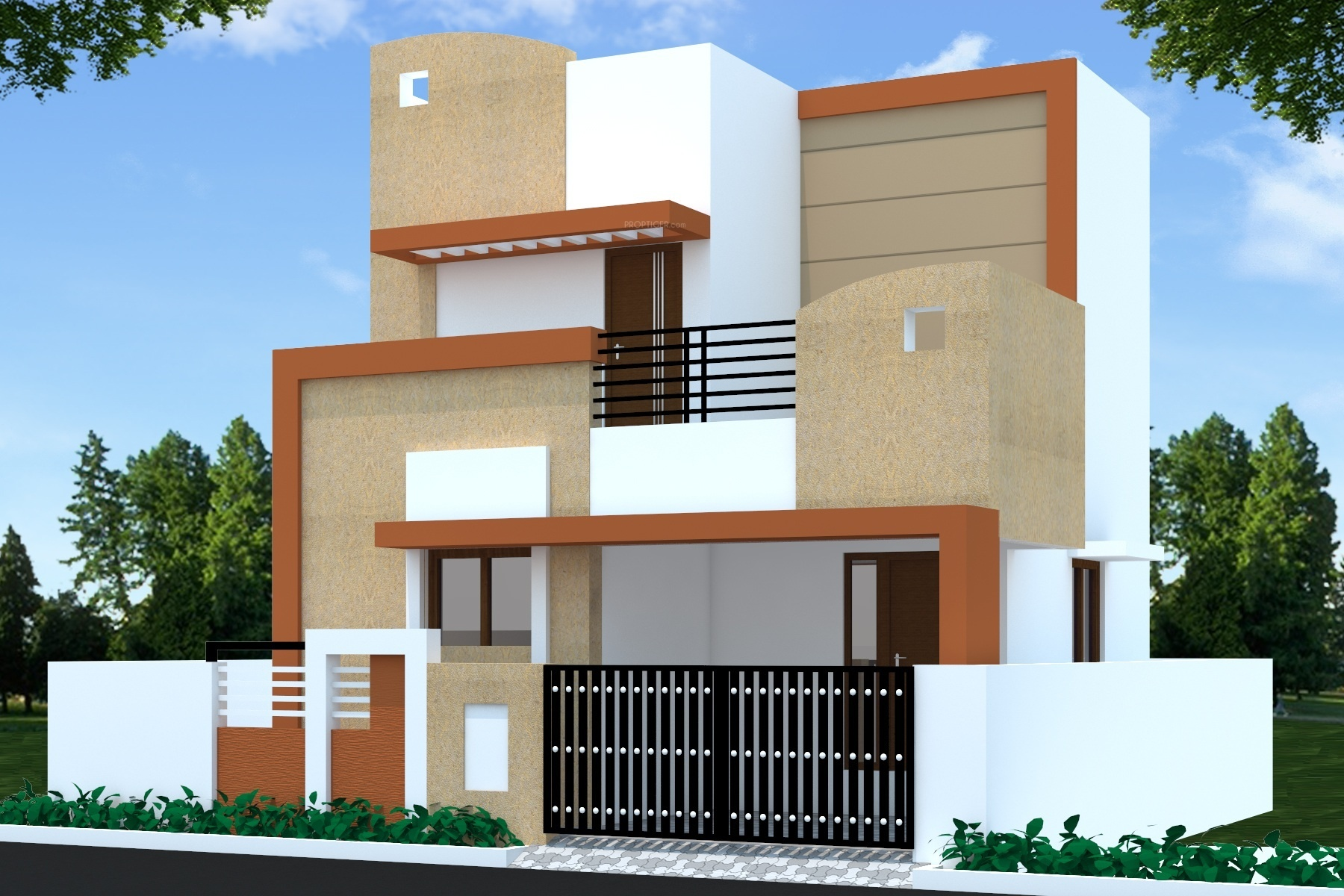 1000 sq ft 2 bhk 2t villa for sale in bharath builders for Independent house elevation photos