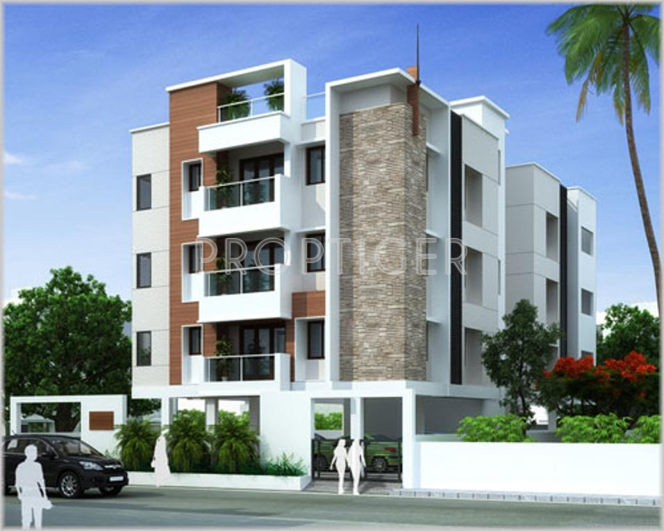 2 Floor Apartment Elevation : Gr natarajan and company sai karpagam in ashok nagar