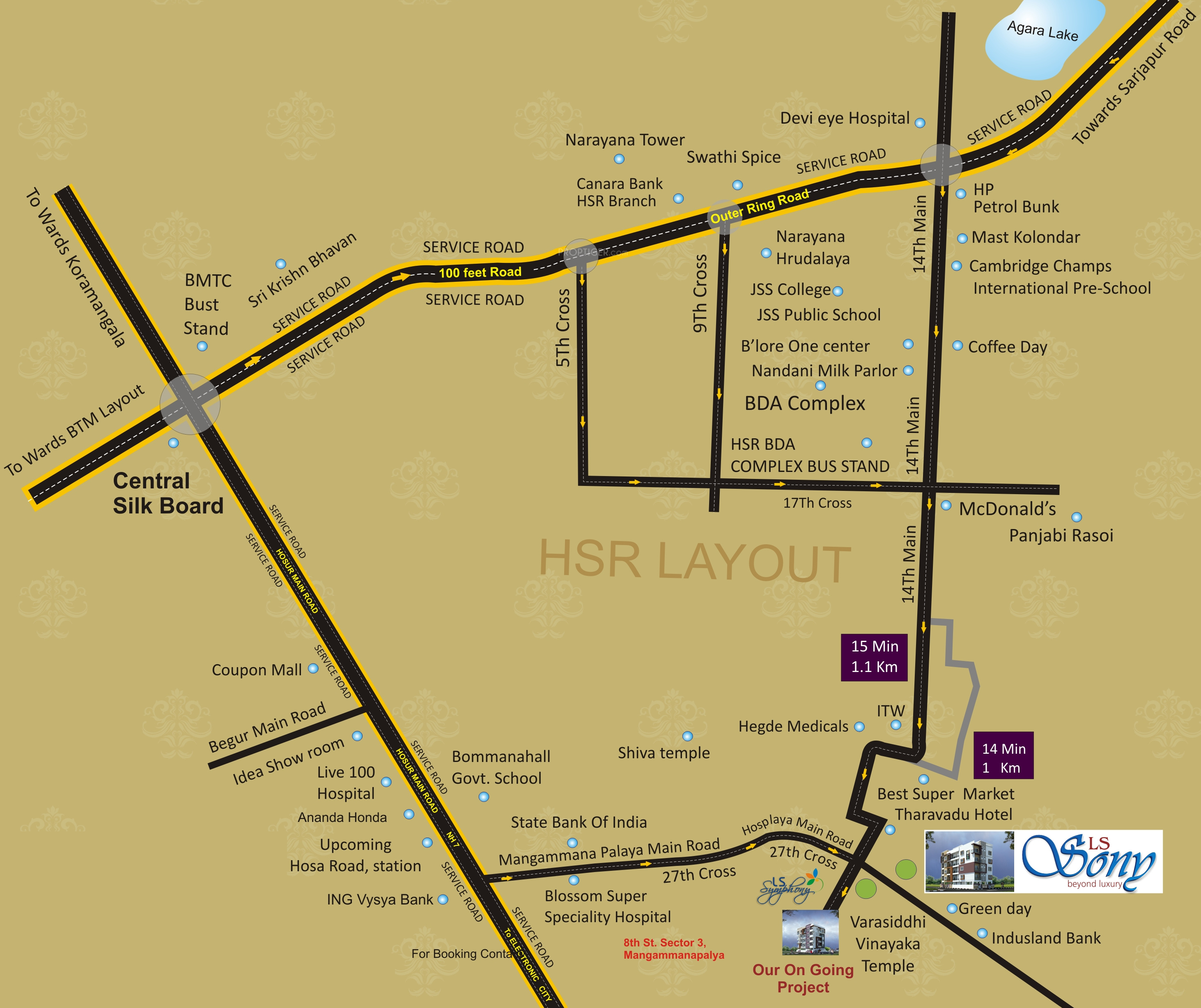 Hsr Layout Bangalore Map LS Sony in HSR Layout, Bangalore   Price, Location Map, Floor Plan
