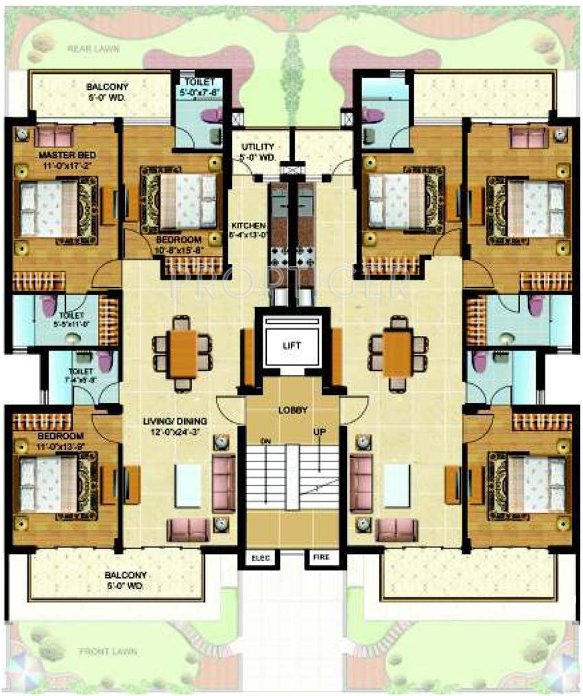 Omaxe royal view homes in dad village ludhiana price for Royal homes house plans