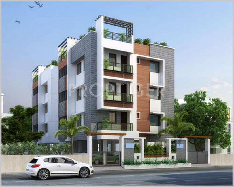 2 Floor Apartment Elevation : Gr natarajan and company varadha priya in madambakkam
