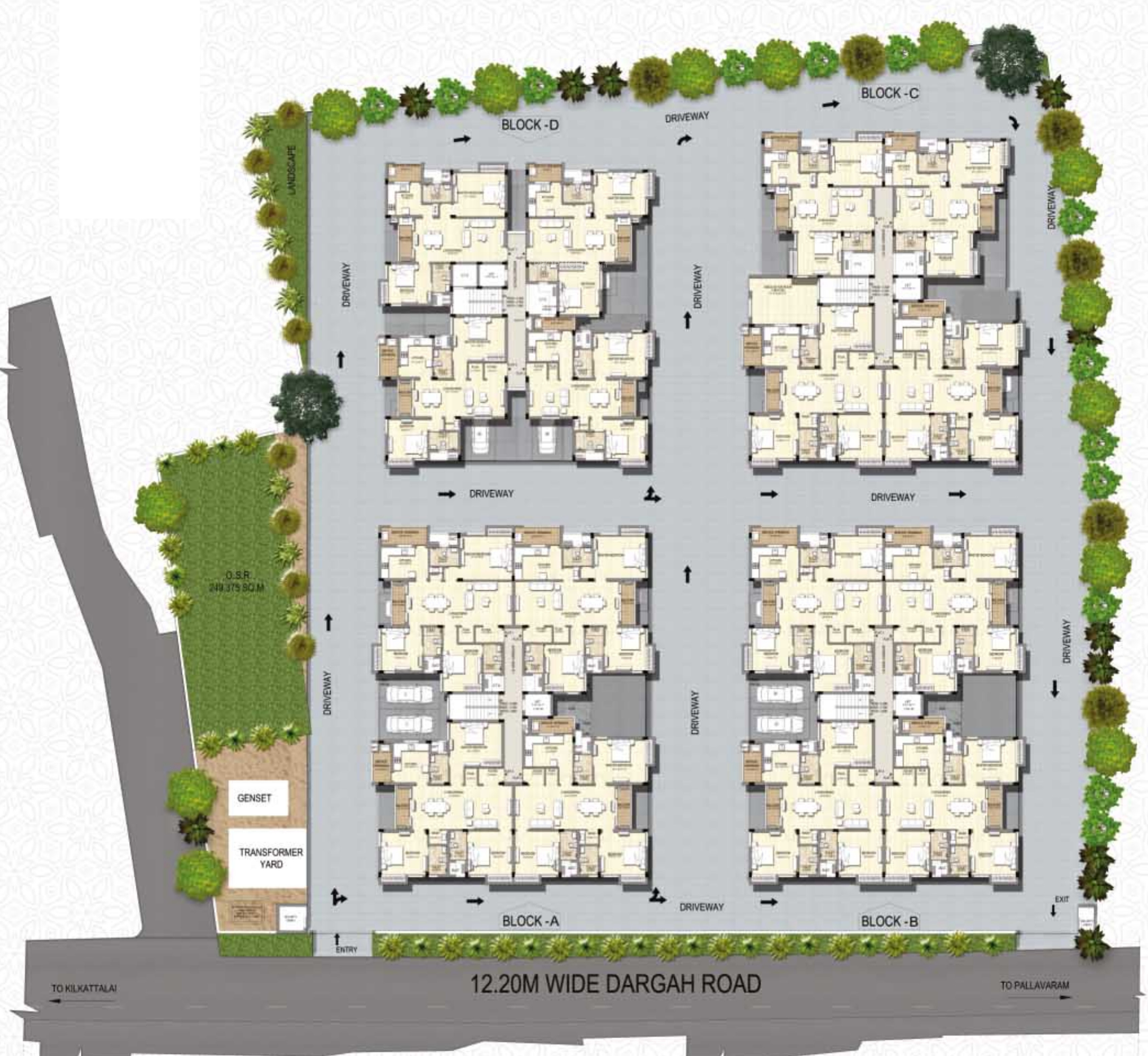 1202 sq ft 2 bhk 2t apartment for sale in krishna for Apartment plans chennai