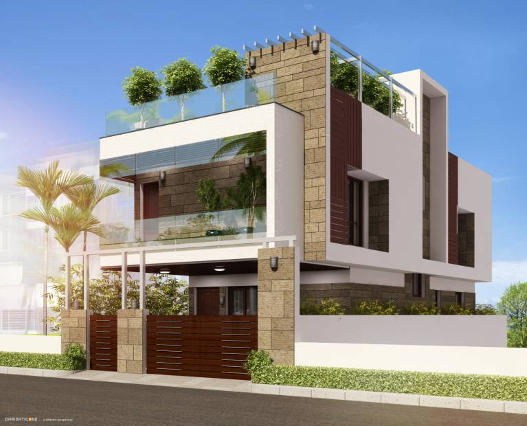 Images for Elevation of India Builders The Vermont Villa