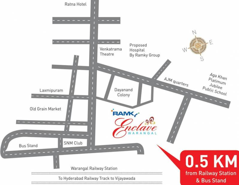 enclave-apartments Images for Location Plan of Ramky Group Enclave Apartments