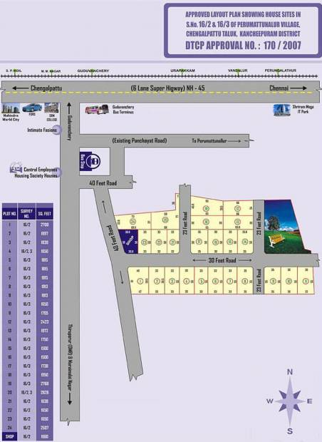 Images for Layout Plan of  Sukadev Residency