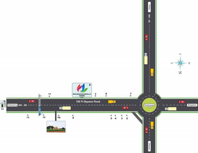 Images for Location Plan of Manju Shubamangala Homes