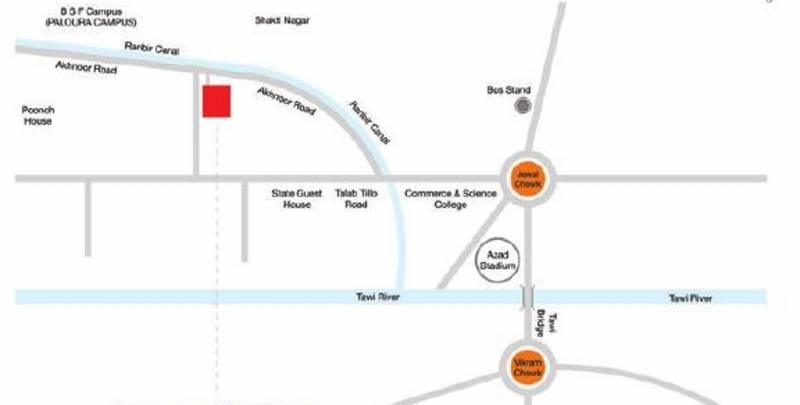 Images for Location Plan of Adarsh Buildestate Royal Palms