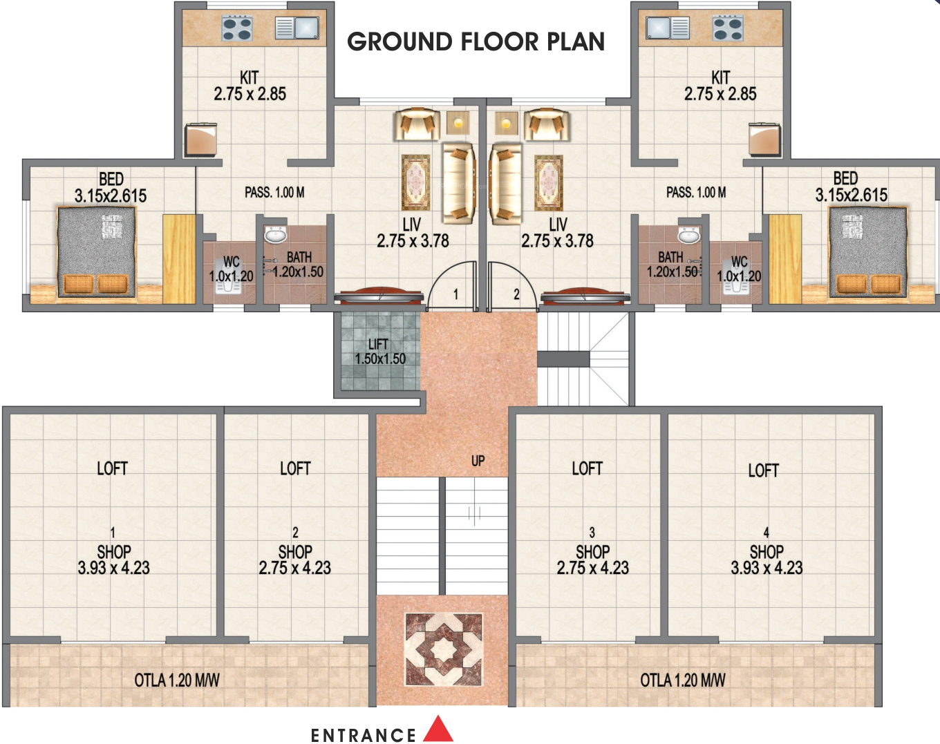 540 Sq Ft 1 Bhk 1t Apartment For Sale In Gbk Group