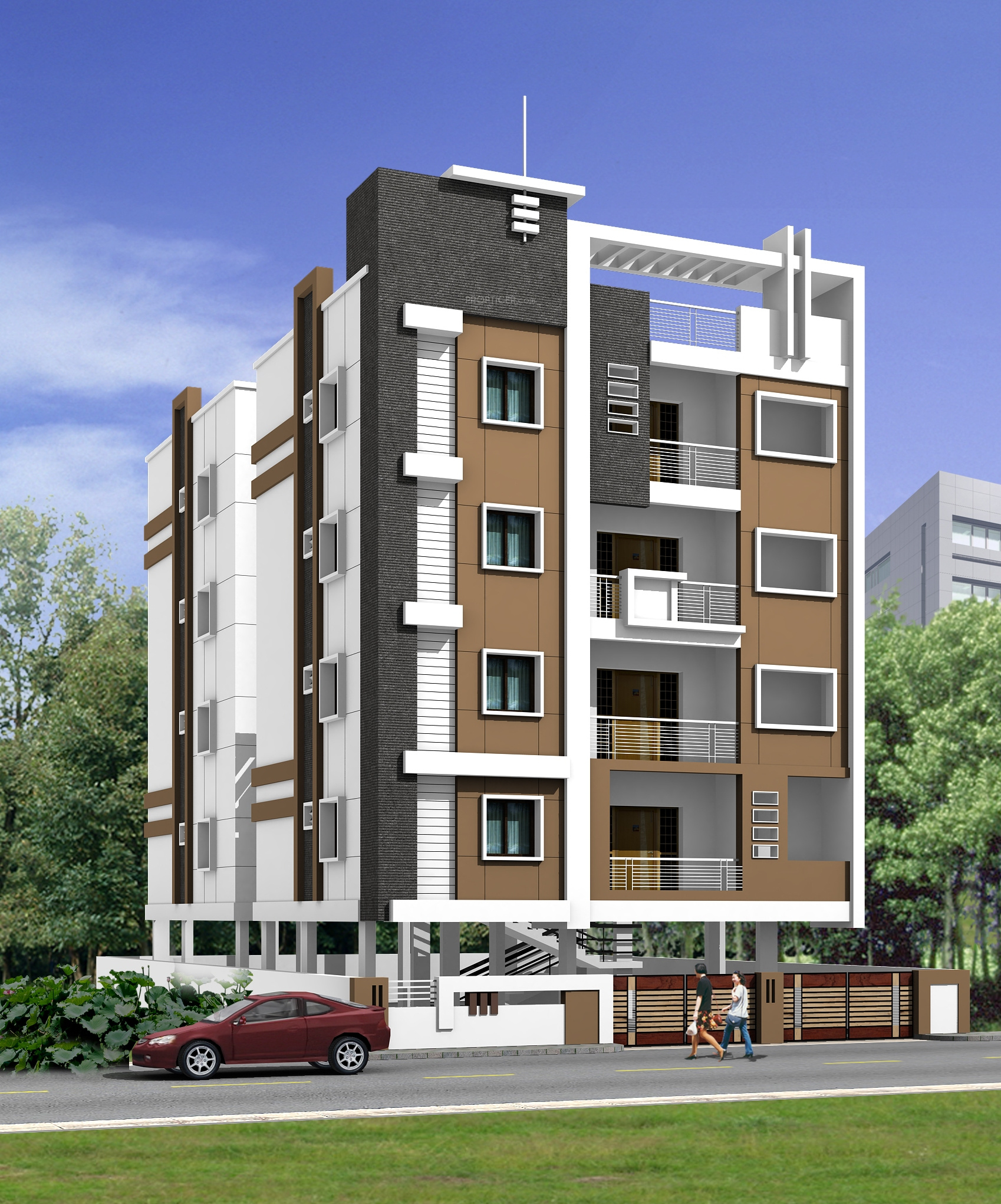 3 Floor Apartment Elevation : Sq ft bhk t apartment for sale in sindhu haritha
