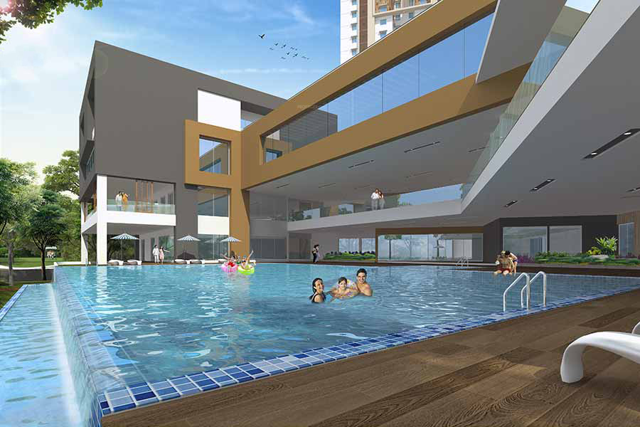 1275 sq ft 2 bhk 2t apartment for sale in aparna - Swimming pool construction cost in hyderabad ...