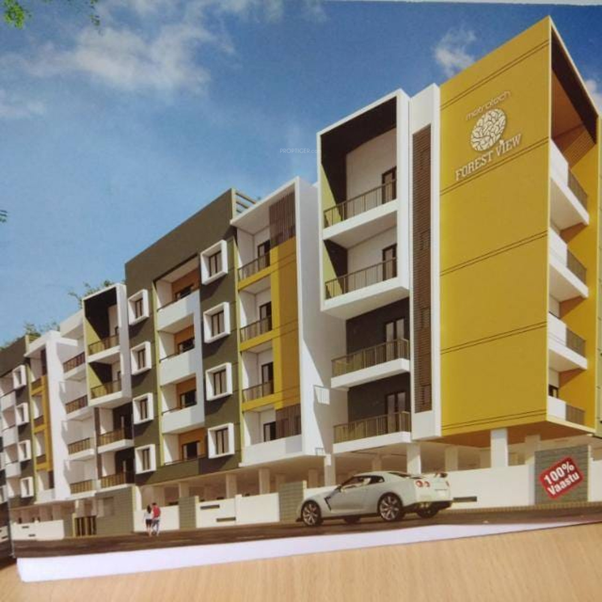 Forest View Apartments: 1372 Sq Ft 3 BHK 2T Apartment For Sale In Metrotech Forest