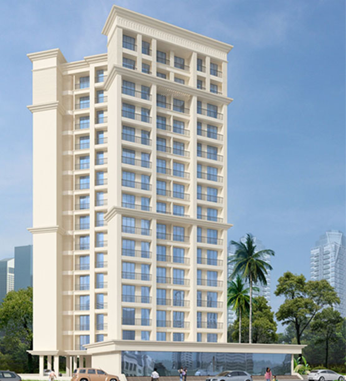 Ghar Ground Floor Elevation : Laabh pehla ghar shubh sanket complex in thane west