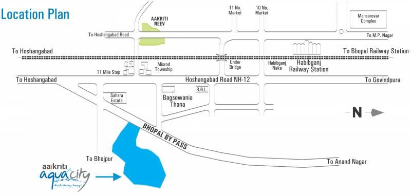 Images for Location Plan of Aakriti Aquacity Gomti