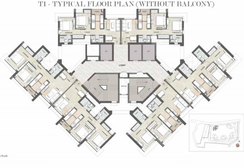 paramount Images for Cluster Plan of Kalpataru Paramount