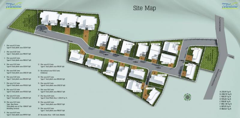 Images for Site Plan of Chevron Celestine Apartment