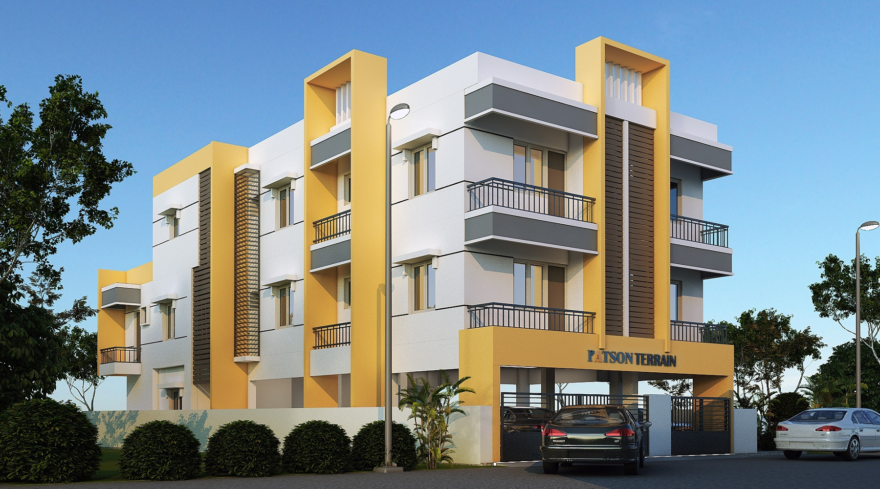 5 Floor Apartment Elevation : Bhk cluster plan image patson pyramid for sale at