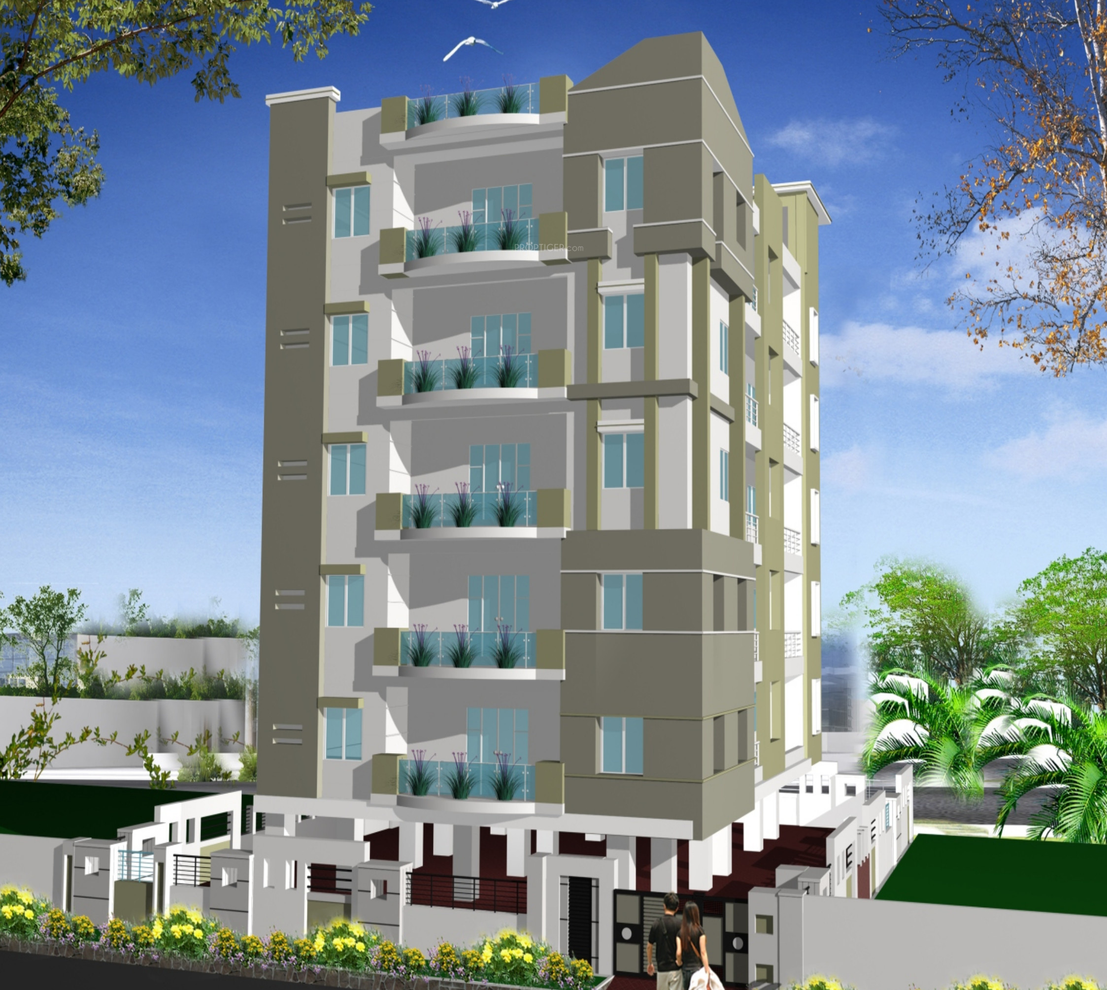 Wood And Glass Elevation : Ss navya glass emerald in malakpet hyderabad price
