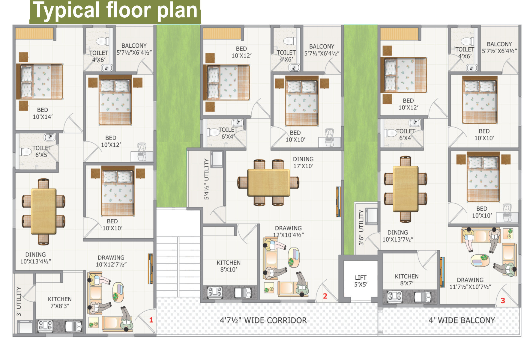 1026 Sq Ft 2 Bhk 2t Apartment For Sale In Ss Constructions