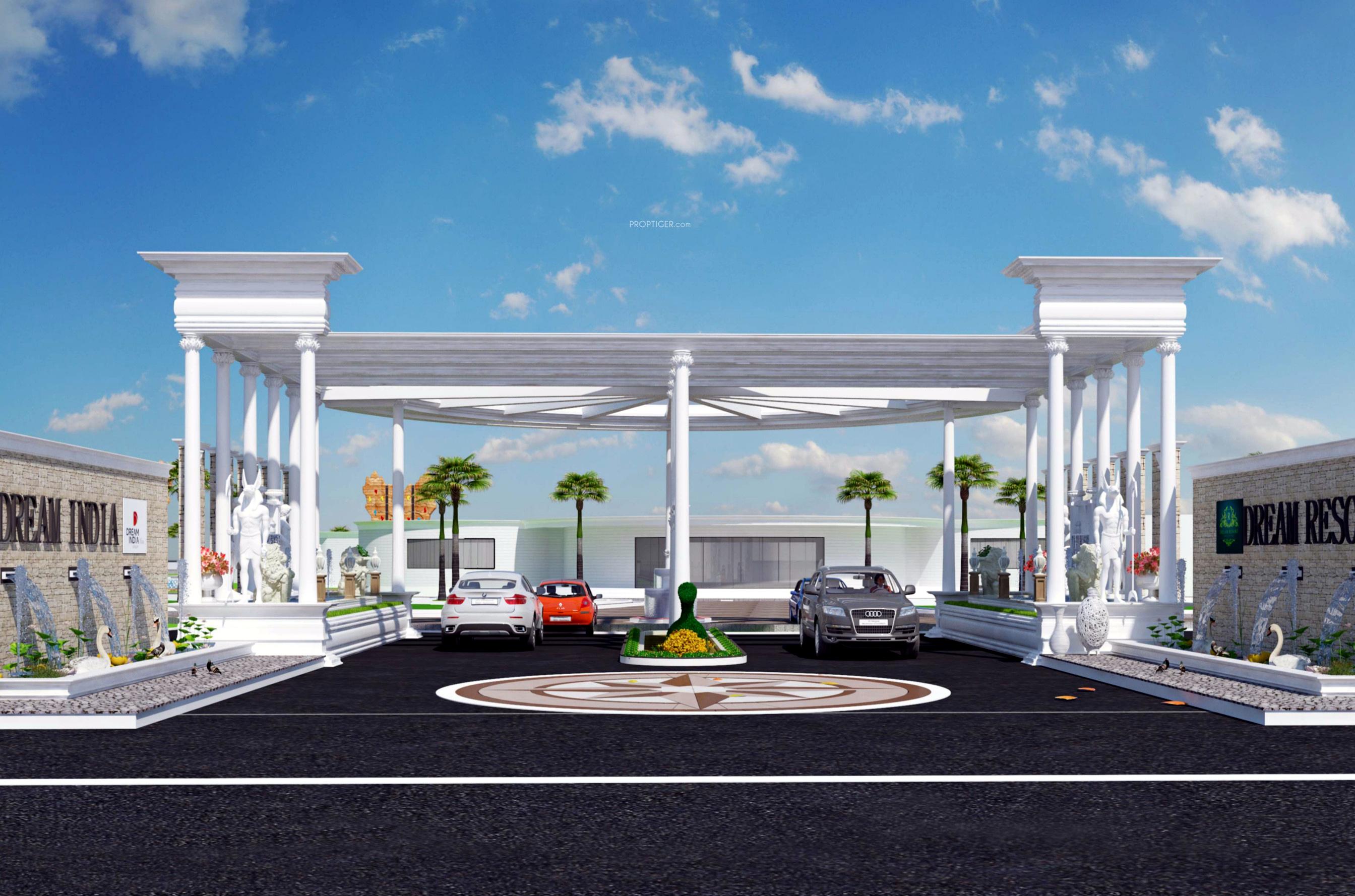 Resort Elevation Plan : Site plan image of dream india resort shamshabad hyderabad