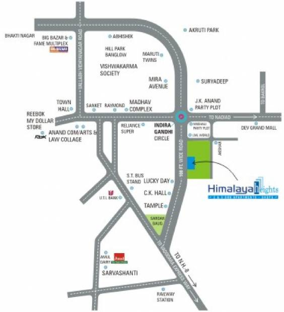 himalaya-heights Images for Location Plan of Himalaya Buildcon Heights