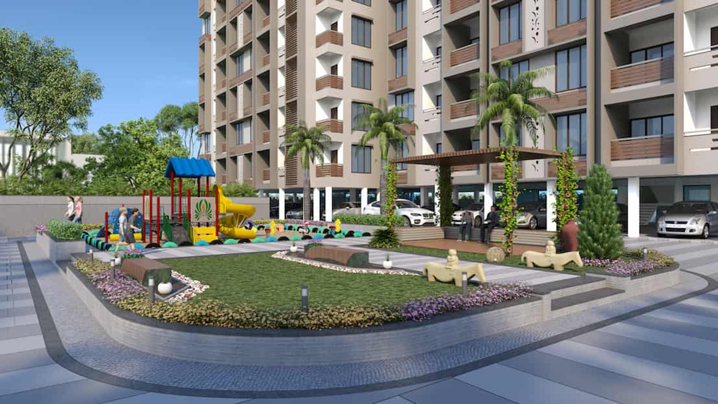 1521 sq ft 2 bhk 2t apartment for sale in sarthak builder for 80 ft garden design