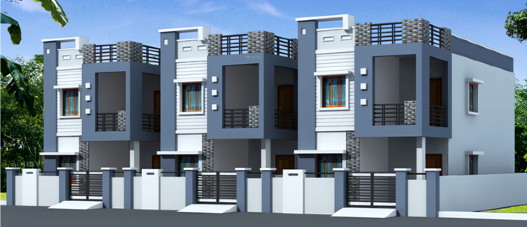 Main elevation image 1 of adasada homes ii unit available for Building duplex homes cost