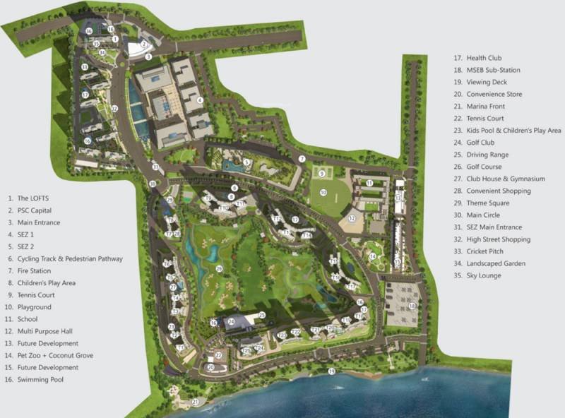 Images for Master Plan of Paranjape Blue Ridge Project C Land T18 and T19