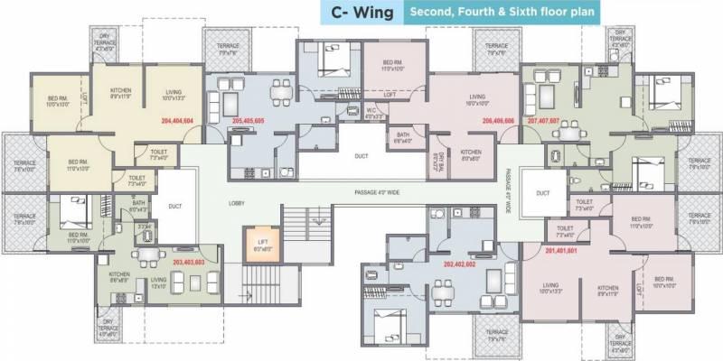 Images for Cluster Plan of Shah And Associates C Building KK Shreeram