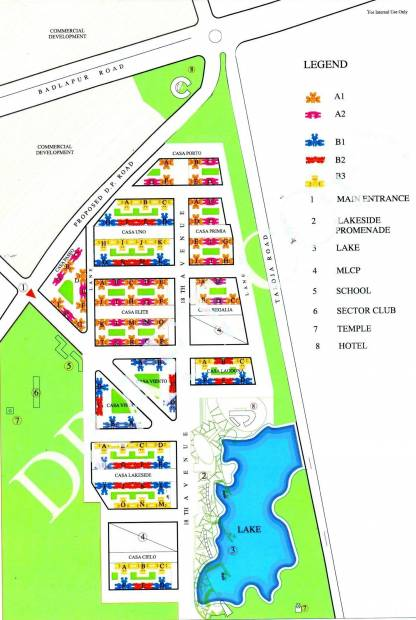 Images for Master Plan of Lodha Palava Lagoona A To F