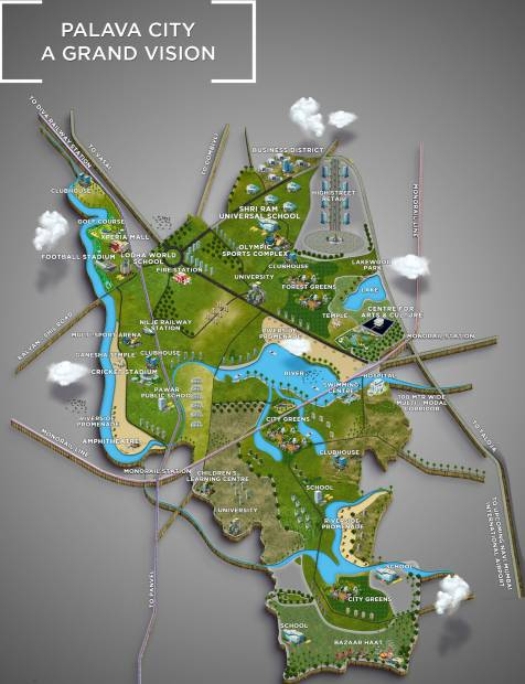 Images for Master Plan of Lodha Palava Lakeside A To H