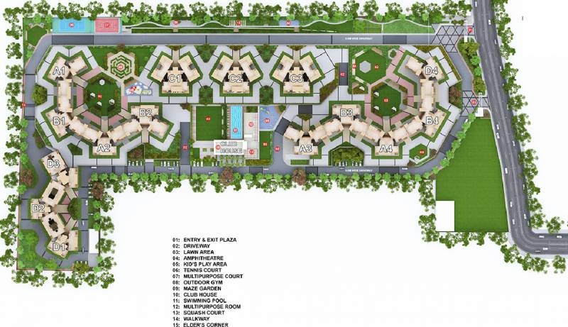 Images for Master Plan of Mahindra Antheia C1