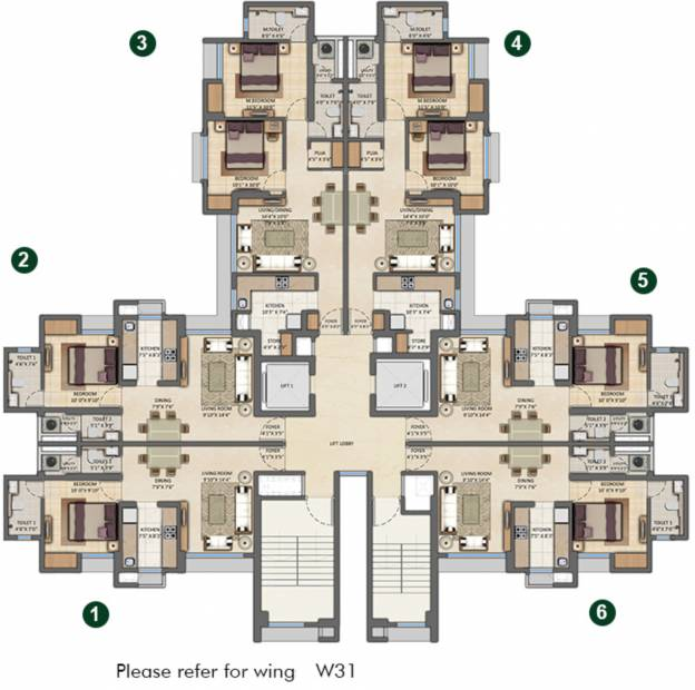 Images for Cluster Plan of Lodha Amara Tower 29 31