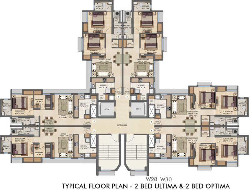 amara-tower-26-27-28-30-34-35 Images for Cluster Plan of Lodha Amara Tower 26 27 28 30 34 35
