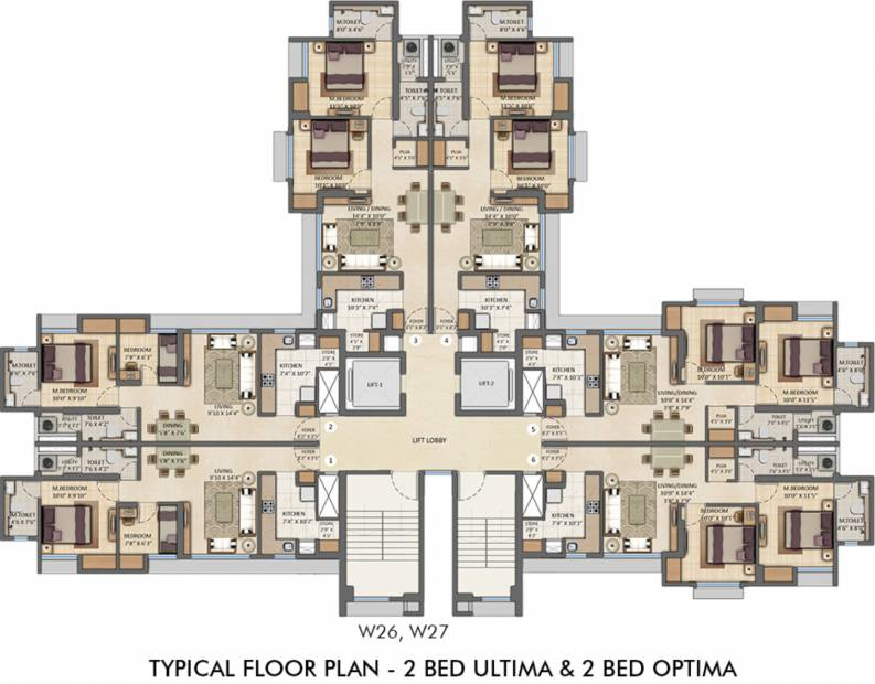 Images for Cluster Plan of Lodha Amara Tower 26 27 28 30 34 35