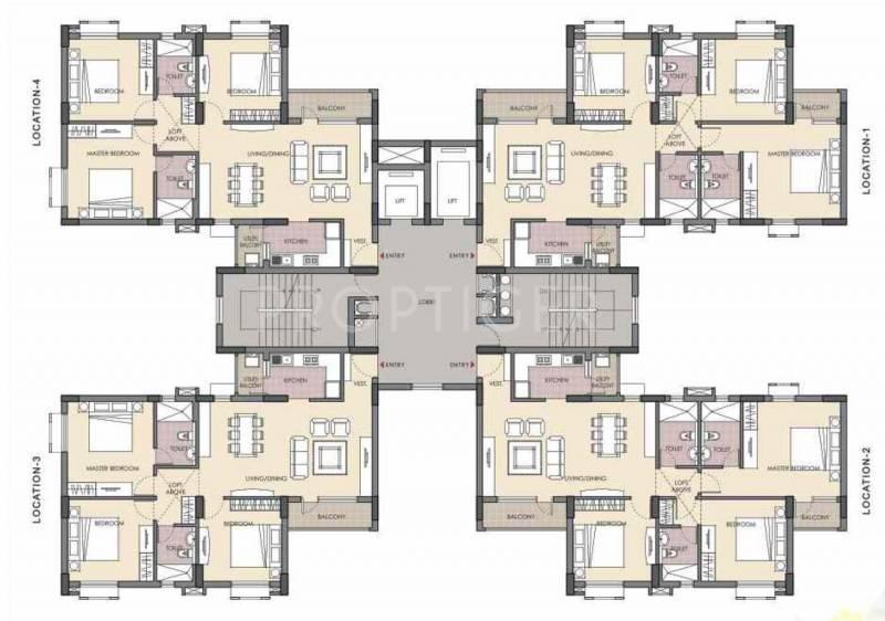 Images for Cluster Plan of Unitech Fresco