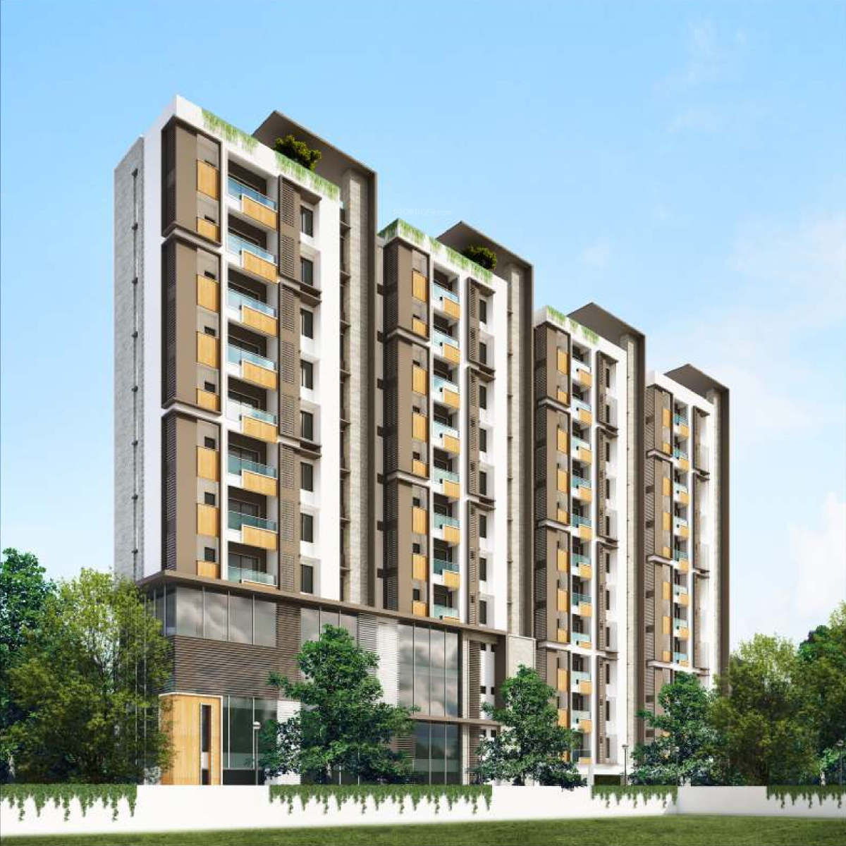 Ninety Degrees Apartments: 1282 Sq Ft 3 BHK 3T Apartment For Sale In DRA 90 Degrees