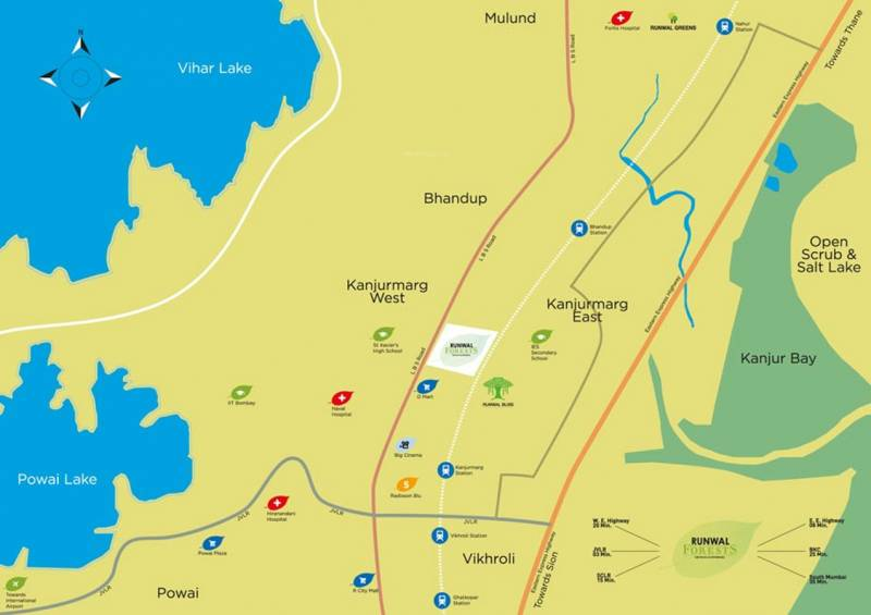 Images for Location Plan of Runwal Forest Tower 1 To 4