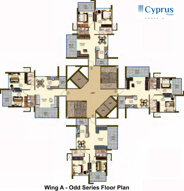 Images for Cluster Plan of Kanakia Cyprus