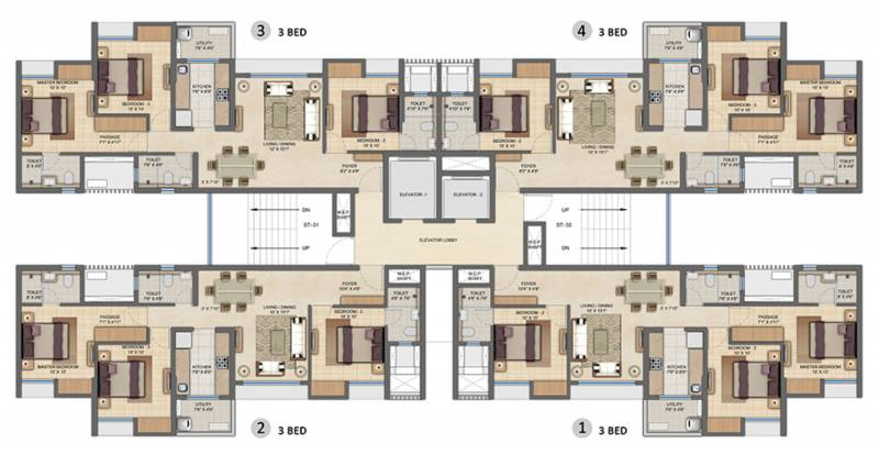 Images for Cluster Plan of Lodha Upper Thane Ecopolis A B