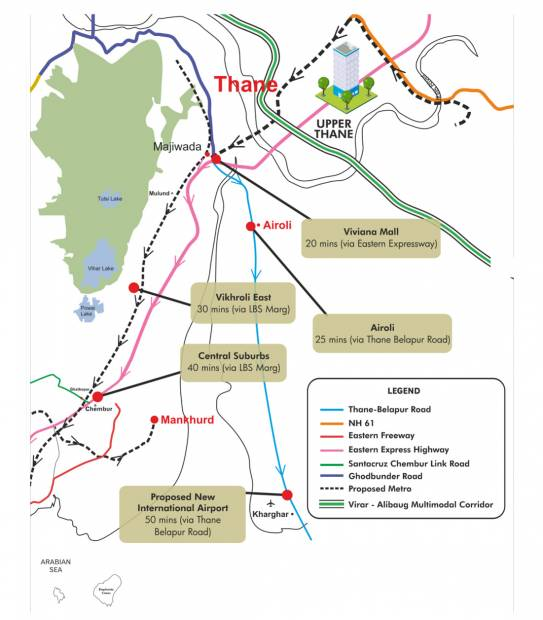 Images for Location Plan of Lodha Upper Thane Ecopolis A B