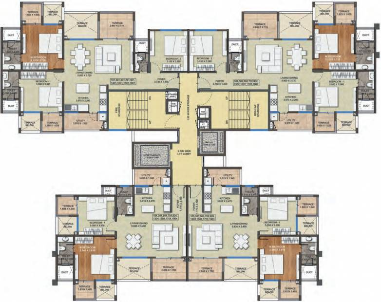 purva-silversands Images for Cluster Plan of Purva Purva Silversands