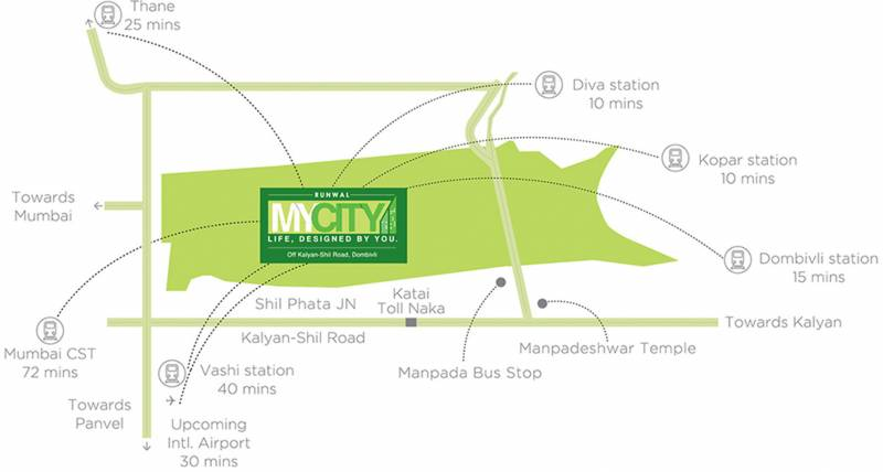 my-city-phase-ii-cluster-4 Images for Location Plan of Runwal My City Phase II Cluster 4