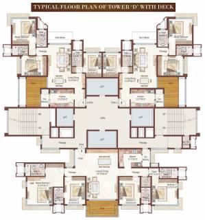 1 3 4 Bhk Cluster Plan Image Ashford Royale Tower D For Sale At Bhandup West Mumbai Proptiger Com