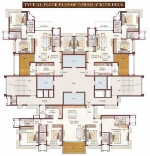 3 4 Bhk Cluster Plan Image Ashford Royale Tower A For Sale At Bhandup West Mumbai Proptiger Com