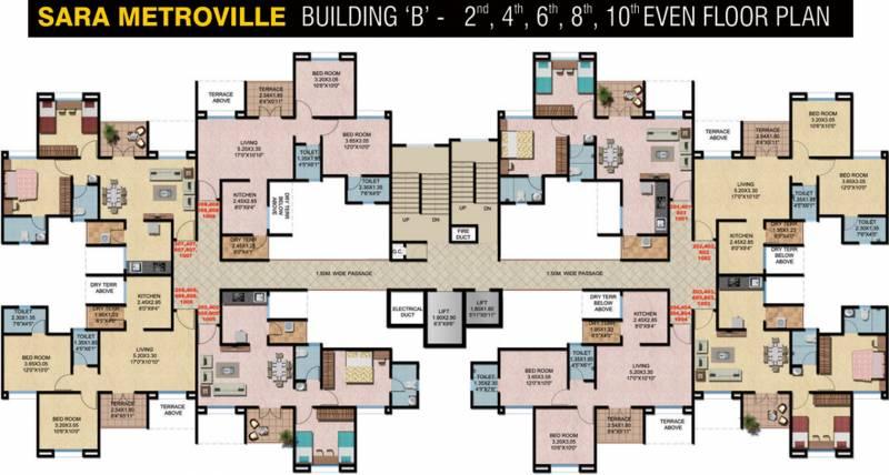 Images for Cluster Plan of Sara Sara Metroville B